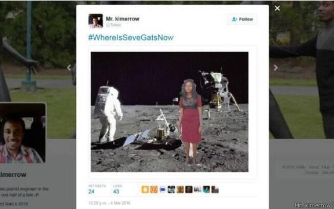 Com a hashtag #OndeEstáSeveGatAgora, surgiram memes em que Seve visita até a Lua