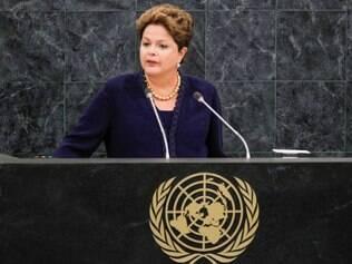 Presidenta Dilma Rousseff durante abertura do debate geral da 68ª Assembleia-geral das Nações Unidas