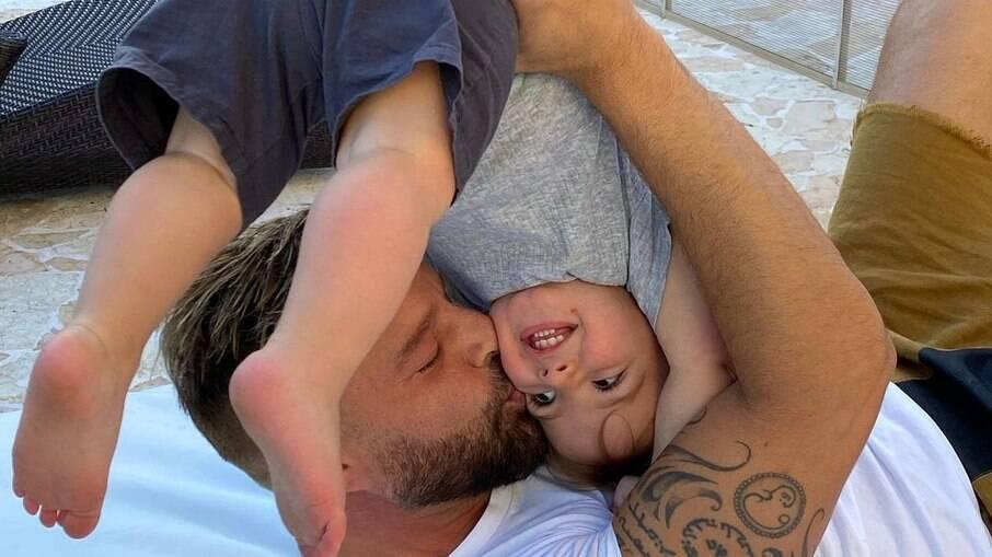 Ricky Martin e seu filho, Renn