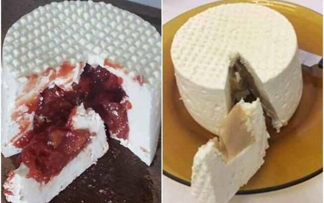 José Giglio criou uma receita de queijo recheado.