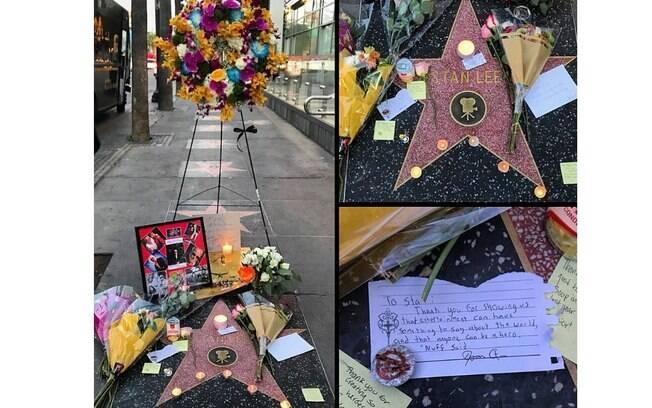Fãs prestam homenagem a Stan Lee em Calçada da Fama