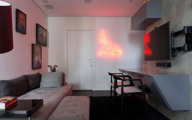decoracao de sala unica:No projeto de Abreu Borges, a unidade é criada pelo uso de uma única