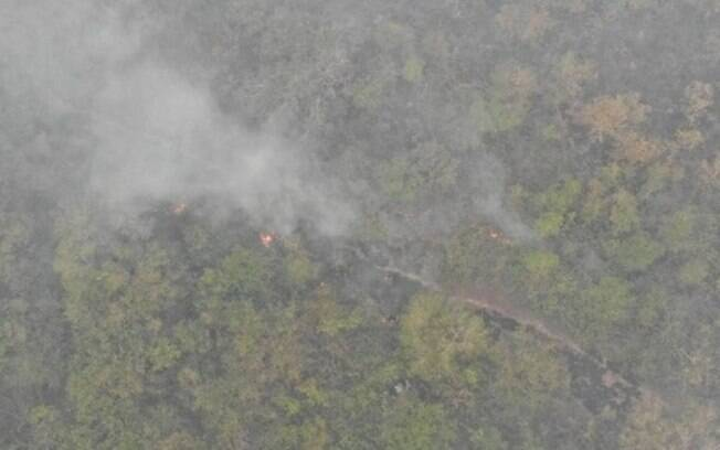 Helicóptero da Força Nacional cai na região de Porto Jofre, em Pocone (MT)