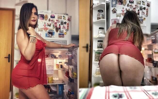 Geisy Arruda sensualiza e mostra estratégia para não comer por ansiedade