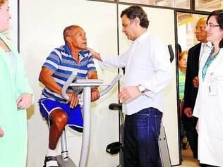 Agenda. Aécio visitou a Associação Brasileira Beneficente de Reabilitação (ABBR), no Rio de Janeiro