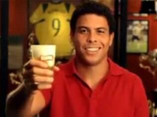 Ronaldo em comercial de cervejaria