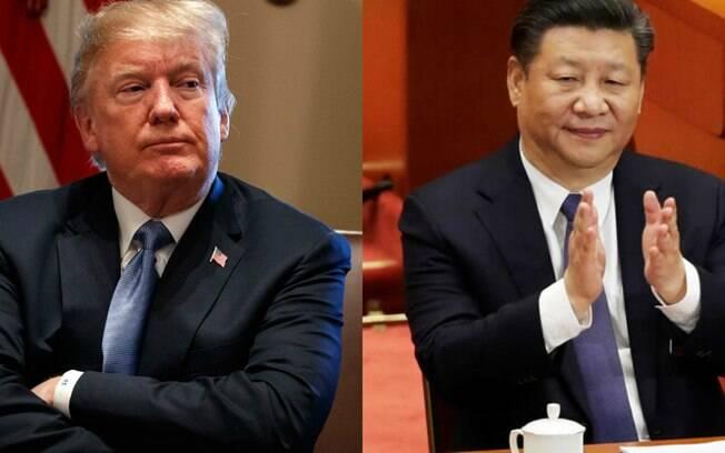Donald Trump, atual presidente dos Estados Unidos, e Xi Jimping, o atual presidente da China