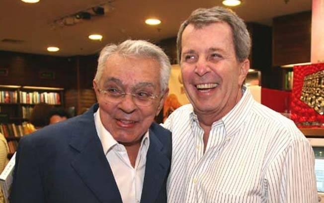Chico Anysio com o diretor Daniel Filho