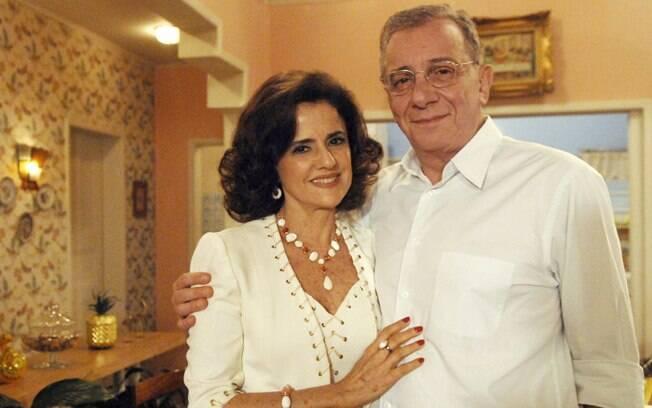 Nenê (Marieta Severo) e Lineu (Marco Nanini) em