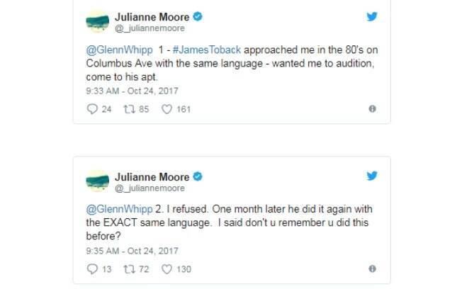 Julianna Moore sobre o assédio sexual de James Toback