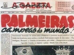 Palmeiras foi campeão da Copa Rio de 1951