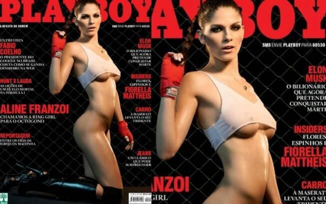 A playboy trouxe a ring girl Aline Franzoi em sua capa de setembro