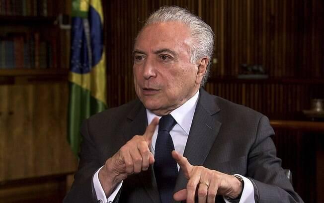 Banco Centro bloqueou R$ 8,2 milhões da conta do ex-presidente Michel Temer