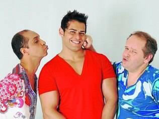 Atração. Os betinenses Bruno Canaan (meio) e Fernando Veríssimo (direita) estrelam espetáculo