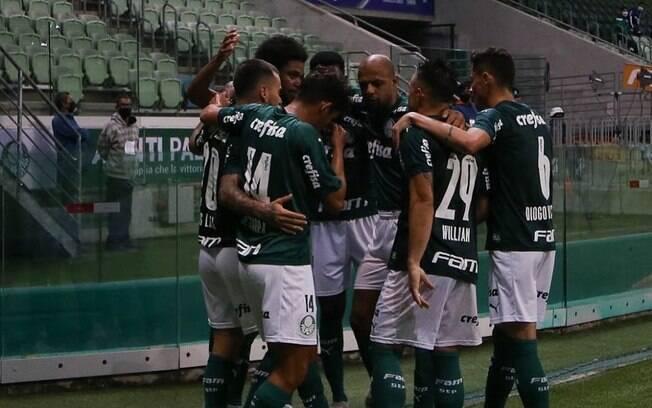Palmeiras comemora o gol