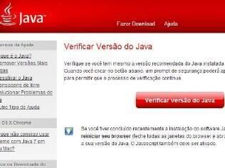 Site permite verificar versão do Java