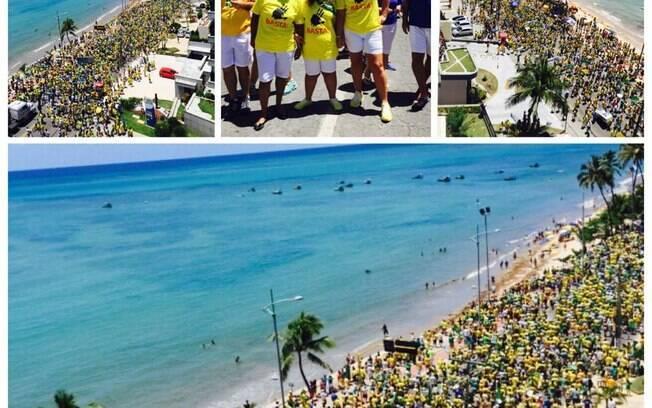Ativista José Júnior postou imagem da orla da Maceió (AL). Foto: Reprodução/Facebook José Júnior
