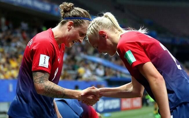 Noruega eliminou a Austrália nos pênaltis e está nas quartas da Copa do Mundo feminina