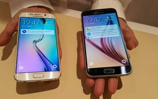 Galaxy S6 Edge e Galaxy S6 são as grandes novidades da Samsung para o MWC 2015. Foto:  Emily Canto Nunes