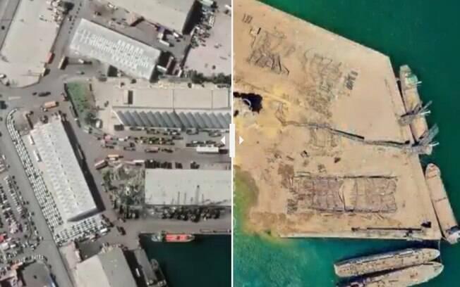 explosão porto de beirute líbano