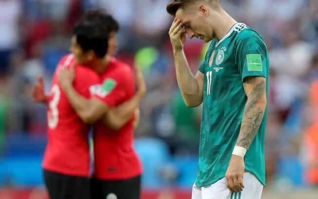 Marcos Reus lamenta, eliminação da Copa do Mundo