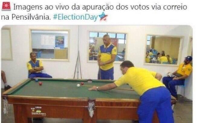 Meme sobre os votos pelos correios