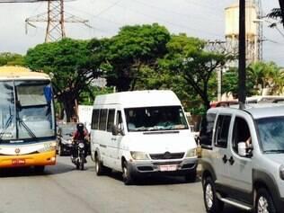 Manifestação congestionou o trânsito na avenida Babita Camargos