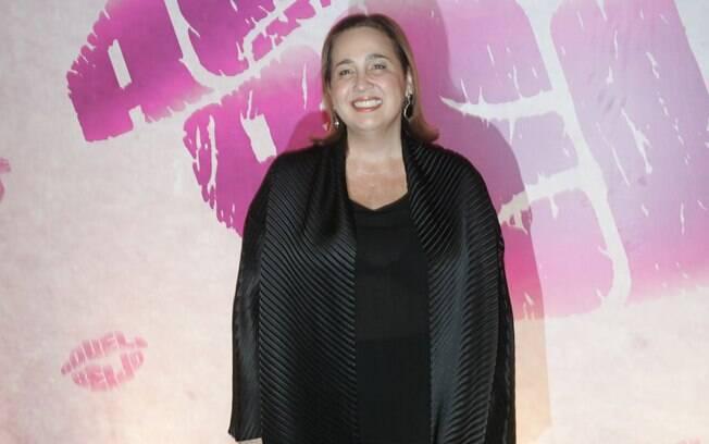 Claudia Jimenez na festa de lançamento de