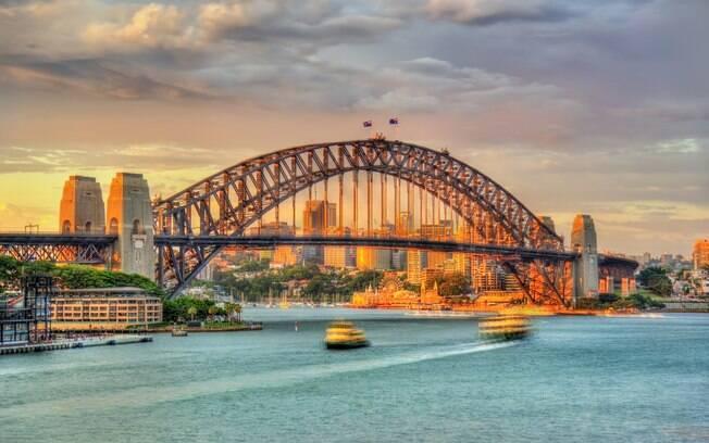 Ponte da baía de sydney, austrália