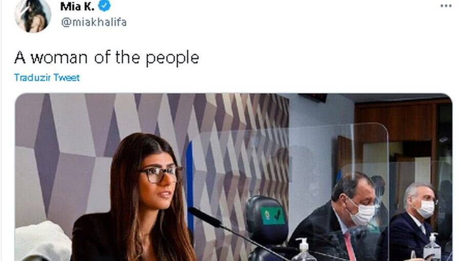 Mia Khalifa reagiu às menções a seu nome por senadores