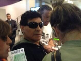 Maradona esteve no Mineirão para ver Argentina x Irã