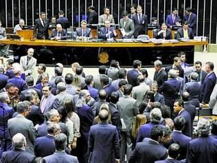 Apuração.  Oposição acusou o presidente do Congresso, Renan Calheiros, de fraude na contagem dos votos sobre vetos presidenciais