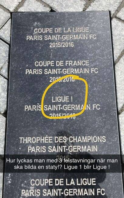 Erro na estátua de Ibrahimovic