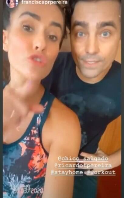 Ricardo e Francisca Pereira pedem para que todos fiquem em casa