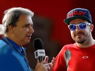 Reginaldo Leme é considerado um dos maiores repórteres de Fórmula 1