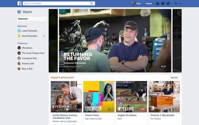 Watch aproveita as reações do Facebook para destacar os programas que mais fazem as pessoas rirem, por exemplo
