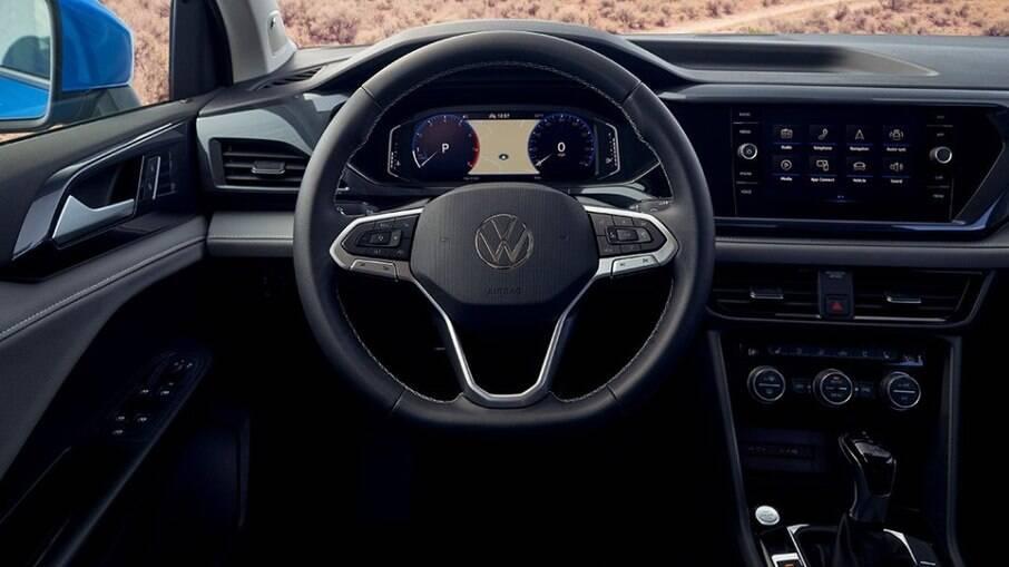 Além da central multimídia, VW Taos terá display 100% digital para reproduzir informações de bordo