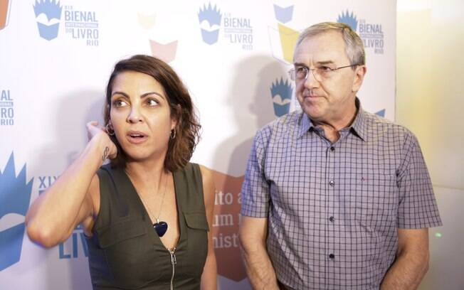 Thalita Rebouças e Laurentino Gomes