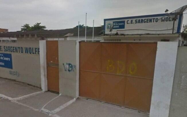 Colégio Estadual Sargento Wolff, no bairro Boa Ventura, em Belford Roxo