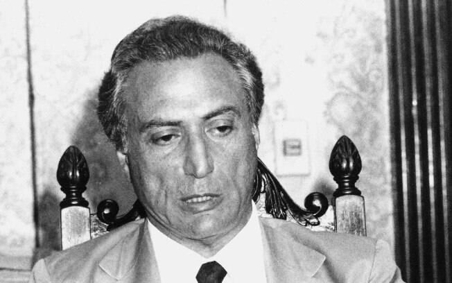 Eleito deputado federal em 1986, Temer se licenciou em 1992 para reassumir a secretaria de Segurança após o massacre do Carandiru. Foto: Arquivo/Estadão Conteúdo - 16.11.92