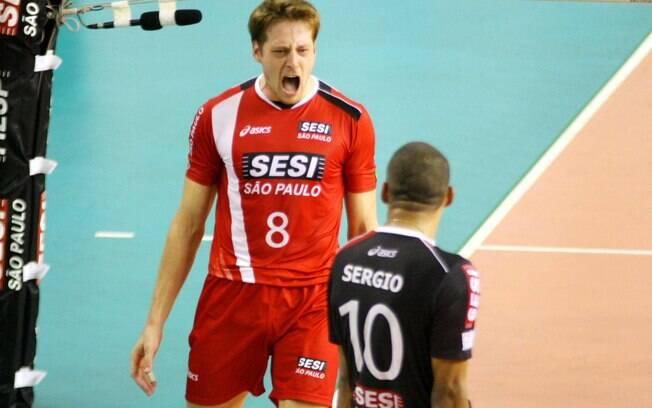 Por aqui, Murilo é capitão e destaque do  Sesi