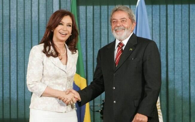 Lula tem um bom relacionamento com Cristina Kirchner