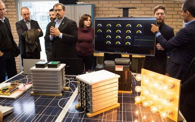 O presidente da Nissan, Marco Silva, durante a assinatura do acordo com a UFSC, de Santa Catarina