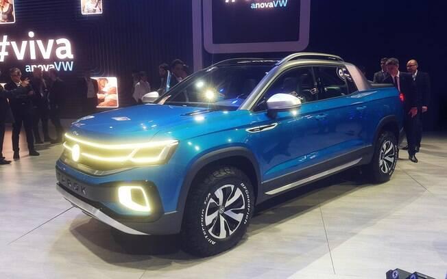VW Tarok no Salão do Automóvel 2018. Projeto concebido no Brasil dará origem à nova picape que chega em um ano e meio