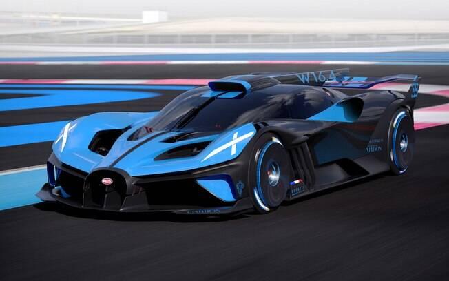 Bugatti Bolide como o próprio nome diz, mais parece um bólido que voa baixo e com potência insana para um veículo de quatro rodas