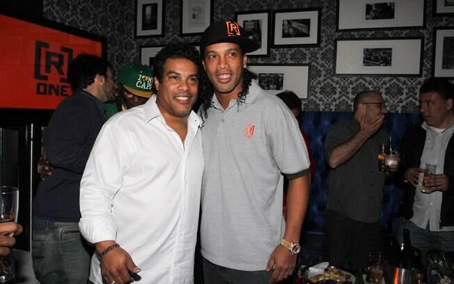Assis, irmão e empresário de Ronaldinho,  participou do evento