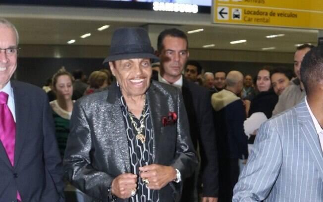 Joe Jackson desembarcou no Brasil na manhã de quarta-feira (22). Foto: AgNews