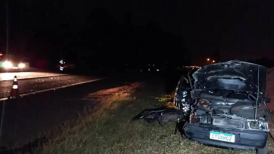 Todas as vítimas eram do Uno, que foi atingido pelo carro na contramão.