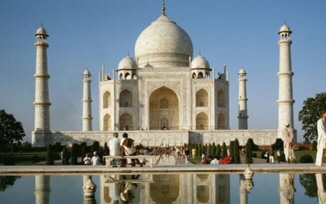 O Taj Mahal foi construído em homenagem à esposa do Imperador Shah Jahan