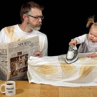 Fotos inusitadas lembram medos comuns de pais inexperientes